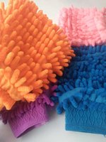 Car Soft Hand Cleaning Microfiber Towel Chenille Gloves Washing Coral Fleece Sponge Anthozoan Wash Care Cloth