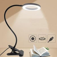 Table Lamps Led Lamp Clip Reading Light USB Power Black Flexible Hose Desk Book Headboard Study Dimmable Bright
