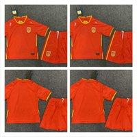 Kids Kit 2021 2022 Китай Футбол для футболки Мальчики устанавливают национальную команду 20 22 22 Мужчины Домашний красный белый ребенок костюм футбол футбол третьего черного сопротивления
