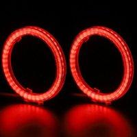 Acil durum ışıkları 2x 58 * 70mm COB Melek Göz Halo Halka LED Işık Yüzükler DRL Gözler Araba Far Güçlendirme için Güçlendirme Ürünleri