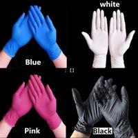 Tek Kullanımlık Lateks Nitril Eldiven Siyah Mavi Beyaz Pembe PVC Eldiven Güzellik Saç Boyası Kauçuk Lateks Mutfak Aletleri Deney Tattoo OWD10925