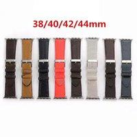 Neue Design Lederband für Apple Uhrenarmband 44mm 40mm 42mm 38mm Uhrenarmband für Iwatch Armband für Apple Watch Serie 5 4 3 SE 6