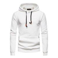 Men's Hoodies & Sweatshirts Slim Print Pullover Plain Hooded Sport Baggy Hoodie Long Sleeve Plaid Sweatshirt Men Casual Autumn Winter Tops