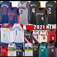 Evan 4 Mobley Cadey 2 Cunningham Jersey Basketball Collin 2 Sexton Ja 12 Morant Zion 1 Williamson Damian 0 Lillard 2021 Lonzo 2 balle