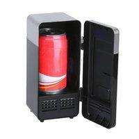 Organizador de automóviles Mini refrigerador Negro ABS 5V 10W USB 19.4x9x9cm Bebida portátil Refrigerador Barco Viaje Cosmético Alta calidad