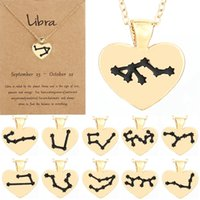 Los doce signos del collar del zodiaco aman las gotas de colgante de aceite zodiaco lockbone cadena