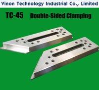"""(2pcs pack) TC-45 Double-sided Clamping Parts 60x220x20+5mm, Stainless Steel Jig Tools, EDM INNOVATION Tooling for Wire-EDM machine 2.36""""x8.66""""x0.79""""+0.2"""""""