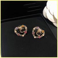 Womens Earrings Jewelry Luxurys Designer Earrings Studs Earrings Designers Letter C For Love Earring Ornaments Necklaces Wholesale 21072901R