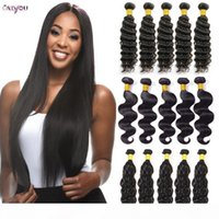 9A Grade Brazilian Human Hair 4 5 6 Bundles Bulk Order Unprocessed Straight Virgin Hair Bundles Kinky Curly Body Deep Water Wave Extensions