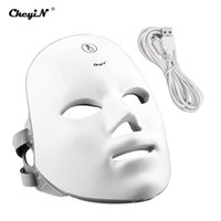 CKYIN LED Yüz Maskesi Işık Terapi 7 Renkler Cilt Gençleştirme Foton Yüz Cilt Bakımı Anti Aging Güzellik Kablosuz Şarj Edilebilir 48