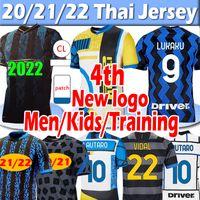 inter milan Novo 21/22 Camisa de futebol Inter 4th Lukaku Lautaro Alexis Soccer Jerseys 2020 2021 Milão Vidal Barella Homens crianças kits Treinando treino Camisas de futebol