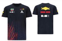 Patlayıcı F1 Formula Bir Yarış Takım Kısa Kollu Tişört Takım Takım Elbise 2021 Rahat Yuvarlak Boyun Tee Özel Araba Fan Stil