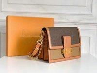 Dauphine مصغرة سلسلة حقيبة مصمم رسالة حقيبة يد m44580 M44391 حقائب الكتف حمل الصليب الجسم