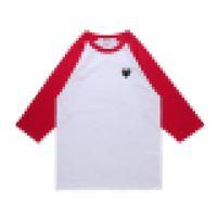 Designer männer kleidung comes des garcons spielen t-shirt rot farbe pullover baumwolle atmungsaktive top qualität herz 3/4 sleeve mens trainingsuit co