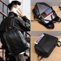 Tasche Sport Feiha Mode Jugend Schultasche Einfache PU-Leder Computer Männer Rucksack