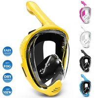 Diving Masks Adult Youth Underwater Scuba Anti Fog Full Face Mask Snorkeling Respiratory Safe Waterproof Swimming Equipment