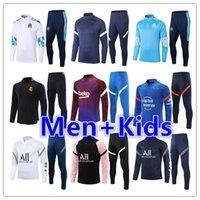 2021 2022 Gerçek Madrid Erkek + Çocuklar Futbol Eşofman Futbol Formaları Eğitim Takım Jersey Kitleri 21 22 Erkekler Çocuk Eşofman Jogging Ceket Setleri