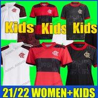 Flamengo Women Football Jerseys 21/22 de Arrascaeta Gabi Soccer Jersey Kit Kit Kits B.Henrique Pedro Ladies Shirts Gabigol Camisa Mengo Feminina Infantil Top