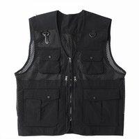 الرجال الهيب هوب أكمام سترة معطف العسكرية تاتيكال البضائع سترة رجل المتناثرة الشارع الشهير الثقوب متعددة جيوب صدرية الرجال جاكيتات