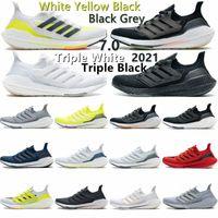 2021 الترا دفعة سوداء الشمسية الرجال الاحذية الأصفر 7.0 ultraboost الأساسية الثلاثي سحابة أبيض رمادي فولت ساشيكو الرجال النساء المدربين الأحذية الرياضية