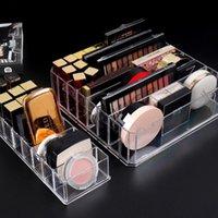 Storage Boxes & Bins Transparent Makeup Box PS Lipstick Eye Shadow Display Stand Holder Bathroom Skincare Organizer For Cosmetics