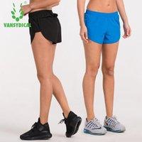 Запуск Шорты Vansydical 2021 Женская Спортивная подготовка йога Быстрая сушка Тканая Фитнес Дышащий свободный тренажерный зал Женщины