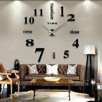 Wall Clocks Modern Design Large Clock 3D DIY Quartz Fashion Watch Acrylic Mirror Sticker Living Room Home Decoration