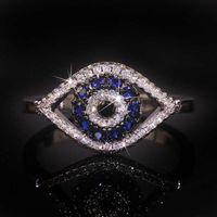2020 New Devil's eye S925 sterling silver inlaid ring fashion women's Diamond Ring Bracelet