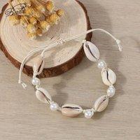 Braccialetto di guscio naturale signore carino moda fatta a mano perline perline 2021 estate spiaggia gioielli regalo classico fidanzata perline, fili