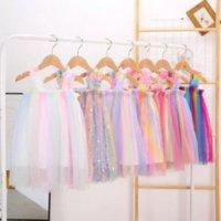 Kids Clothes Girls Tulle Suspender Skirts Summer Princess Tutu Dress Ball Gown A-line Dress Dance Party Costum Casual Skirt 7 Designs
