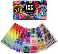 Окраска ручек 180 Цвета Акварельные карандаши для рисования искусства Окрашивание эскизы, затенение окраски