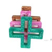 NewsIlicone Cross Teether Diş Çıkarma Kolye BPA Ücretsiz Silikon Hemşirelik Diş Çıkarma Boncuk İsviçre Geometrik Çapraz Çiğnenebilir Takı Duyusal Oyuncak EWF63