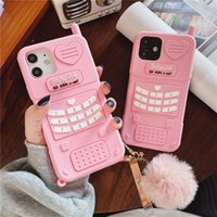 High quality Cute Pink love heart kid girl gift Phone Cases For iphone 13 12 11 pro max mini XR XSmax 6 7 8 Plus SE X Soft Silicone Back Cover
