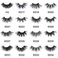 NEW 25mm 3D Mink Eyelashes 22 Styles Dramtic Fluffy Volume False Eyelash Handmade DIY Lashes Extension Beauty Makeup Tool
