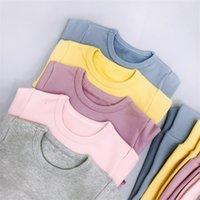 소녀는 따뜻한 플란넬 아기 잠옷 의류를 가진 집의 옷을 두껍게 셔츠 바지 아이 레저 착용 6m-3t 221 U2