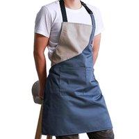 Önlükler Mutfak Pişirme Önlük Tuval Ayarlanabilir Restoran Şef Üniforma Kadın Erkek İş Giysileri Yetişkin Önlükler Ev Pişirme Temizleme
