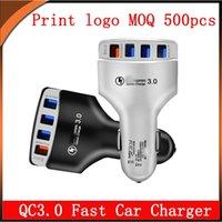 QC3.0 Car Fast Charger With 4 USB 5V 9V 12V Total 6.2A For Samsung Moto Lg Xiaomi Tablet