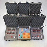 120 Cues Feestartikelen Fireworks Firing System DC24W Veiligheid Machine Bruiloft CE CE Geschakeld D2400W + DHL / FedEx Gratis feestelijke afstandsbediening