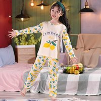Pajamas Lemon Long Sleeve T Shirt Children Boy Girl Autumn Sleepwear Baby Nighty Suit Child Bedgown Clothes Kids Lovely Pyjama