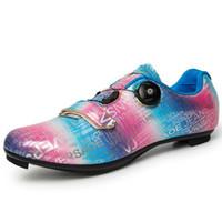 أزياء الرجال ركوب الدراجات أحذية رياضية sapatilha ciclismo mtb المرأة الدراجة الجبلية قفل الذاتي سباق الأحذية الطريق