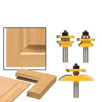 Professional Hand Tool Sets 3 Pcs 1 2'' Shank Rail & Stile Ogee Blade Cutter Panel Cabinet Router Bits Set Milling Power Tools Door Knife Wo