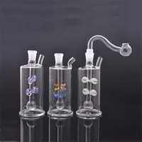Mini bubbler Glass Bong WATER PIPE BONGS small dab rig wholesale cheap beaker bong with glass oil burner pipe and hose