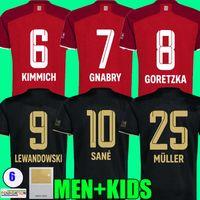 Fans Spieler Version 21 22 Davies Bayern Langarm Fussball Trikots Sane Goretzka Lewandowski Gnabry Müller Musiala Coman Football Hemd Männer Kinder Kit 2021 2022 Tops