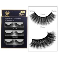 Soft Light Thick 3D Mink False Eyelashes Extensions Natural Long Messy Crisscross Reusable Hand Made Fake Lashes Makeup Accessory For Eyes Daily Use DHL
