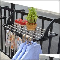 Laundry Clothing Racks Housekee Organization Home & Gardenlaundry Bags 1Pc Stainless Steel Drying Shoe Rack Portable Mti-Function Window Bal