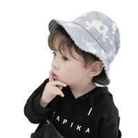 Caps & Hats Adjustable Baby Hat Summer Sunhat Print Cartoon Cute Prevent Ultraviolet Ray For Boy Girls