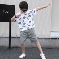Conjuntos de ropa Traje de verano de niños 2021 Cuhk Desgaste de los niños Estilo extranjero de manga corta coreana Dos piezas Set