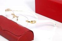 Чтение дизайнера Солнцезащитные очки Мужские и женские Очки Открытый Затенок ПК Рамка Мода Деревянные Классические Дамы Буффало Рог Очки с Оригинальными Коробками Lunettes