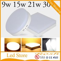 Panel Lights Surface Mounted 9w 15w 21w 30w AC110-240V Led Downlight Light 2835SMD Ceiling Hallway Down Lamp CE UL SAA