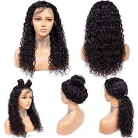 Glueless Lace Frontal Wigs bob 9a Brazilian Deep Wave 360 Front Wig Human 150% Density hd transparent for Black Women(22'')